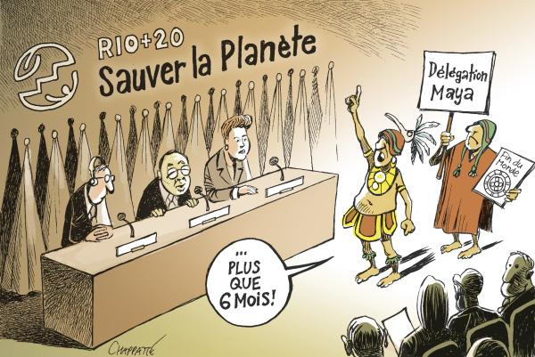 Intervention de la délégation maya au sommet de Rio