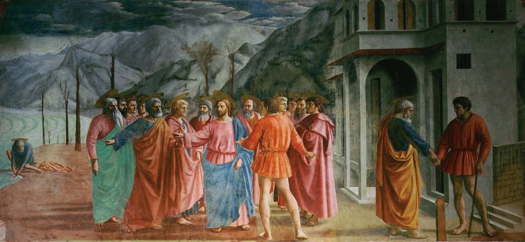 Le paiement du tribut, fresque de Masaccio, chapelle Brancacci